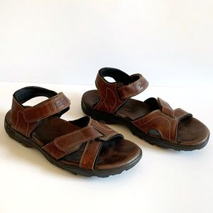 Timberland Men's Leather Sandals Velcro Straps 13